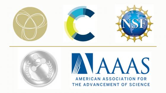 logos for Cozzarelli Prize, Royal Society of Chemistry, NSF, Acta Biomaterialia, AAAS