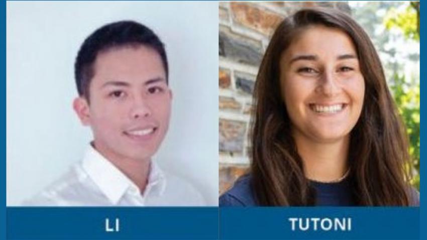 Hengming Li and Gianna Tutoni of Duke University