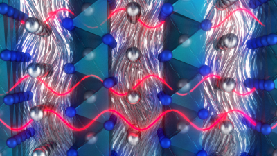 crystal-like heat conduction in a solid-liquid hybrid AgCrSe2