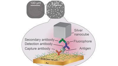 silver nanocube rendering