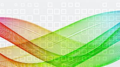 Light banner full spectrum colors twisted