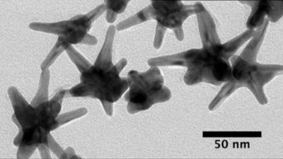 Silver-plated gold nanostars
